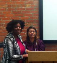 Trustee: Wyoming Ave. Corridor Manager Tempest Carter and business owner from Juniata: Chany Sot of Angela's Boutique.