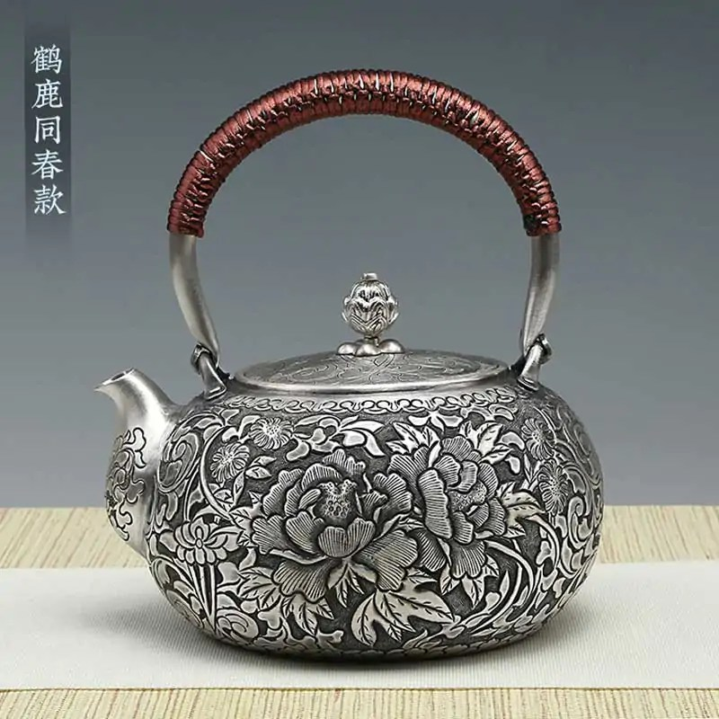 Burn Crafted Silver Teapot
