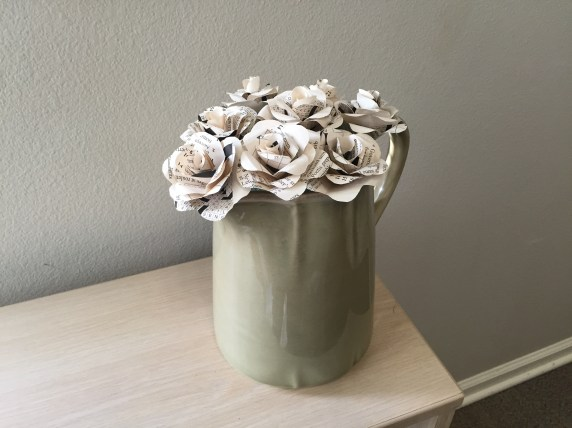 Vase of Faux Flowers