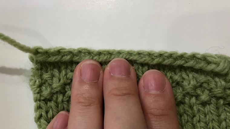 棒編み 伏目