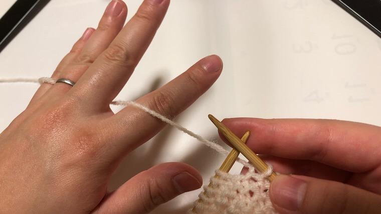 棒編み フランス式 持ち方