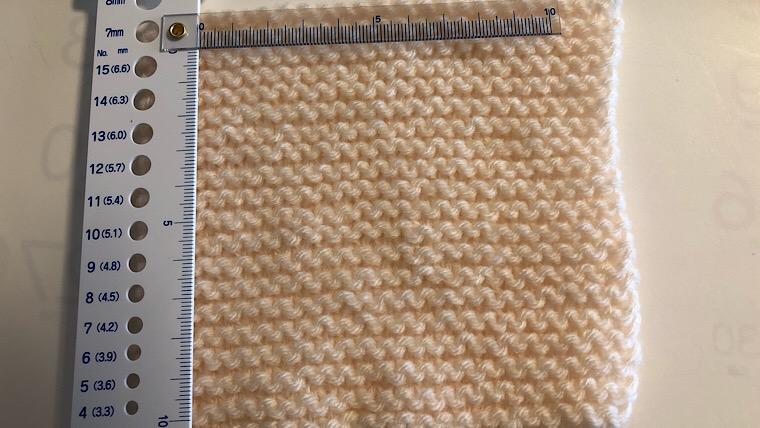 棒編み きれいに編む ゲージを測る