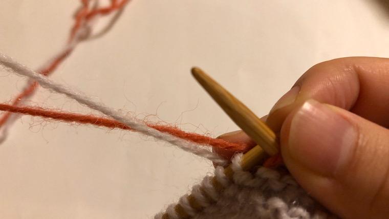 横に糸を渡す方法