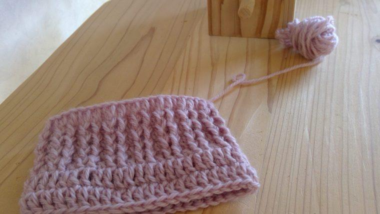かぎ針のゴム編み 編み方って?引き上げ編みで編む方法☆2目ゴム編み風
