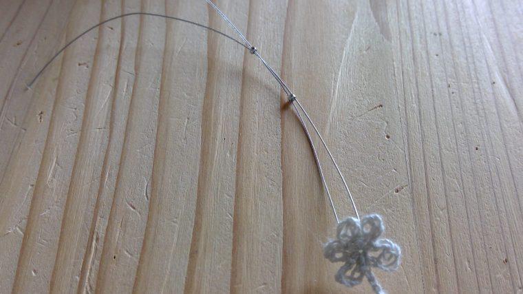 【小花のネックレス☆レシピ】編んだモチーフを形にしよう!