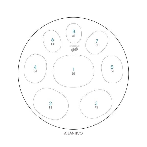 ハンドパン 8和音モデル 60 cm • Handpan Atlantic'O • フランス製 • New Design