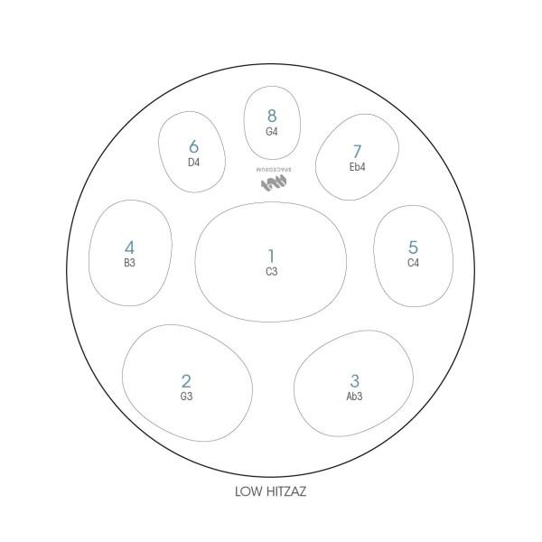 ハンドパン 8和音モデル 60 cm • Handpan Low Hitzaz • フランス製 • New Design