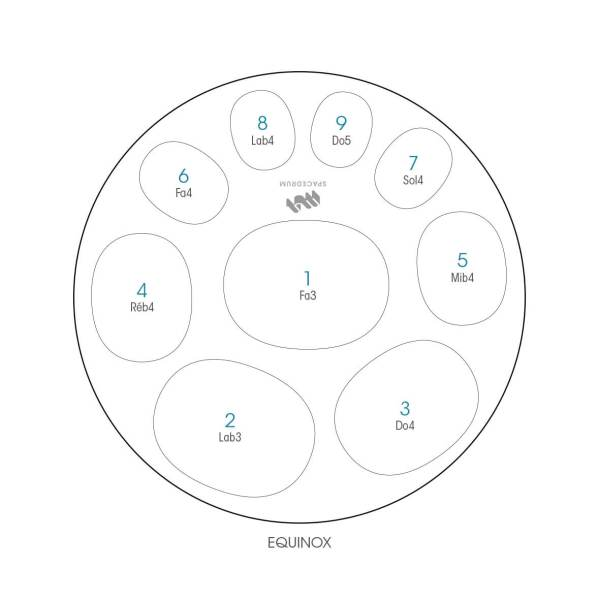 ハンドパン 9和音モデル 60 cm • Handpan Equinox • フランス製 • New Design