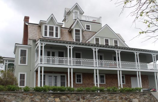 Tiered porches and widows walk