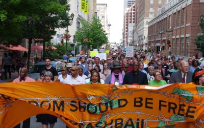 """Has the church found a new way forward? Bail bond march at General Assembly exemplifies the """"Hands and Feet"""" initiative"""