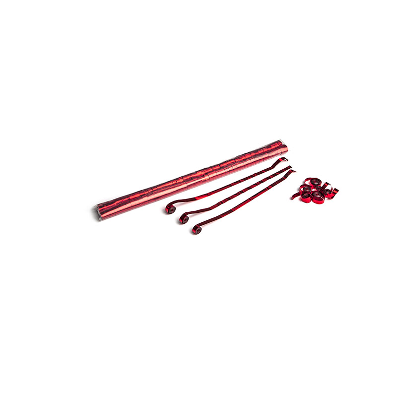 Schritt 2: GIGANT – Metallic Streamer rot – 5 m x  0,85 cm – 100 Rollen