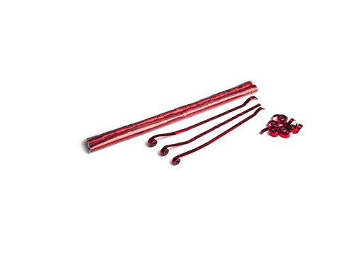 Schritt 2: GIGANT - Metallic Streamer rot - 5 m x  0,85 cm - 100 Rollen