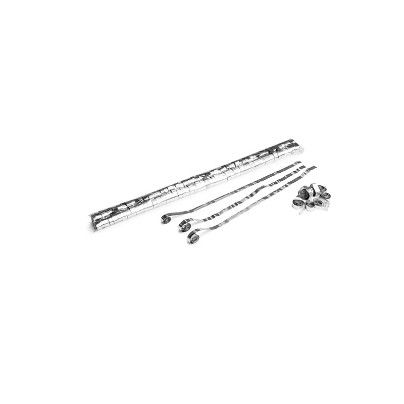 Schritt 2: GIGANT - Metallic Streamer silber - 5 m x  0,85 cm - 100 Rollen