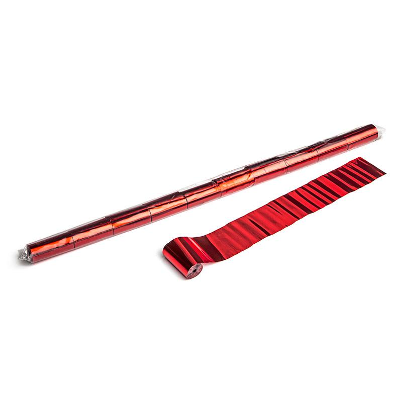 Schritt 2: GIGANT - Metallic Streamer rot - 10 m x  5 cm - 20 Rollen