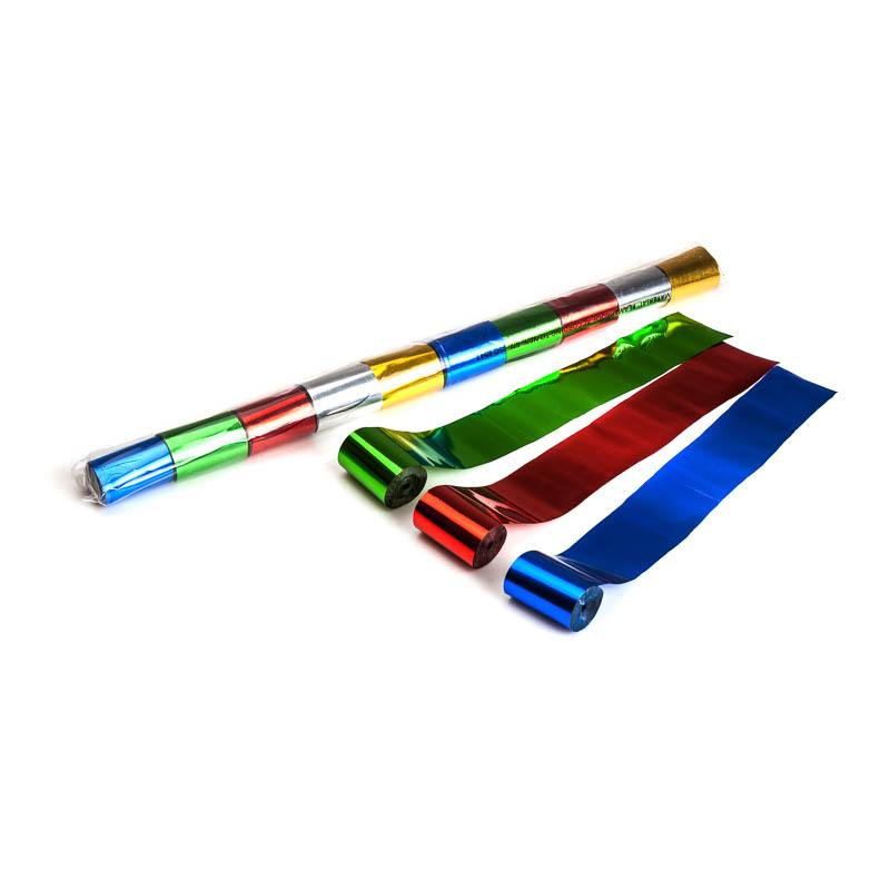 Schritt 2: GIGANT – Metallic Streamer bunt – 20 m x  5 cm – 10 Rollen