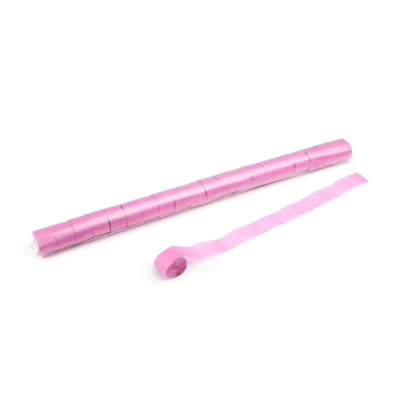 Schritt 2: GIGANT - Metallic Streamer pink - 20 m x  2,5 cm - 20 Rollen