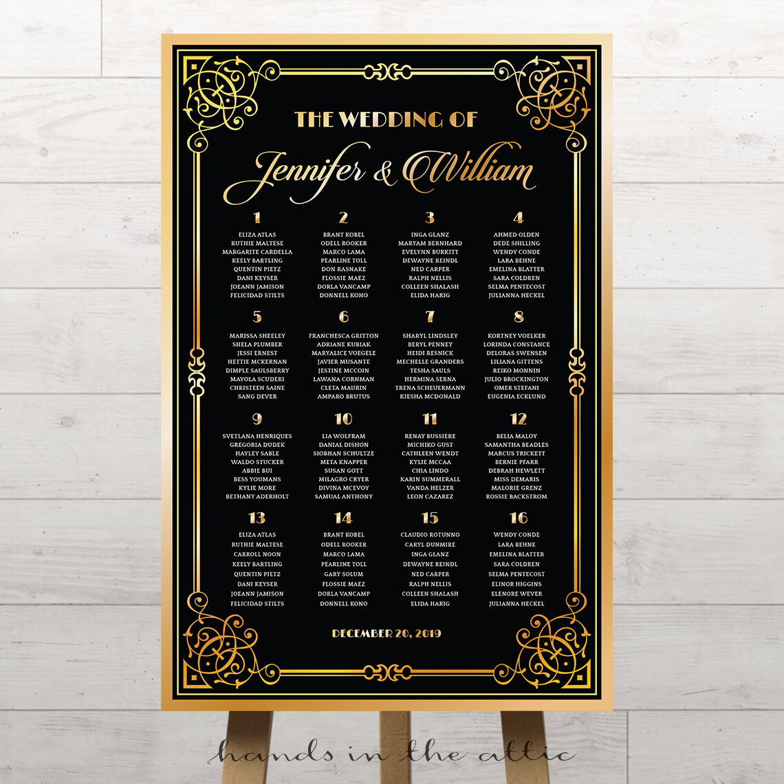 Bridal Shower Invitations Gatsby