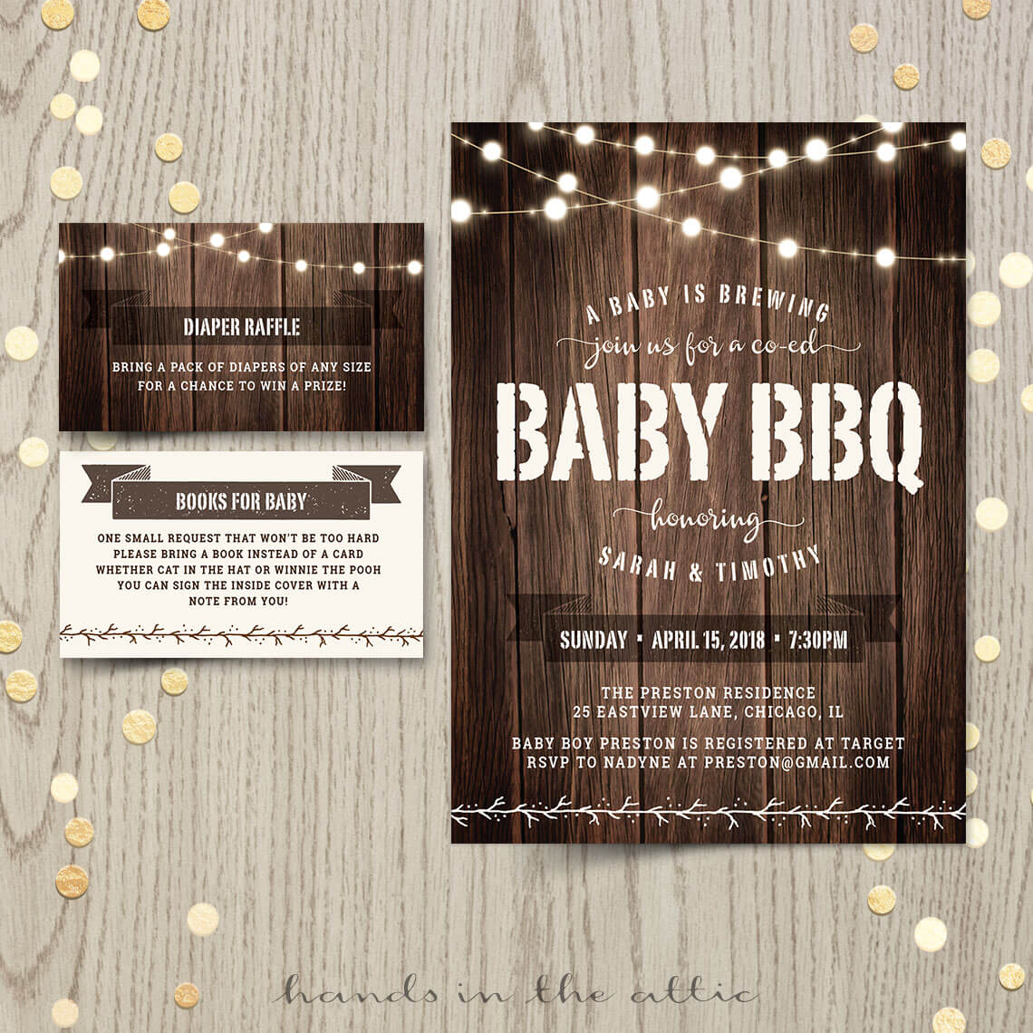 Printable Baby Q Invitations