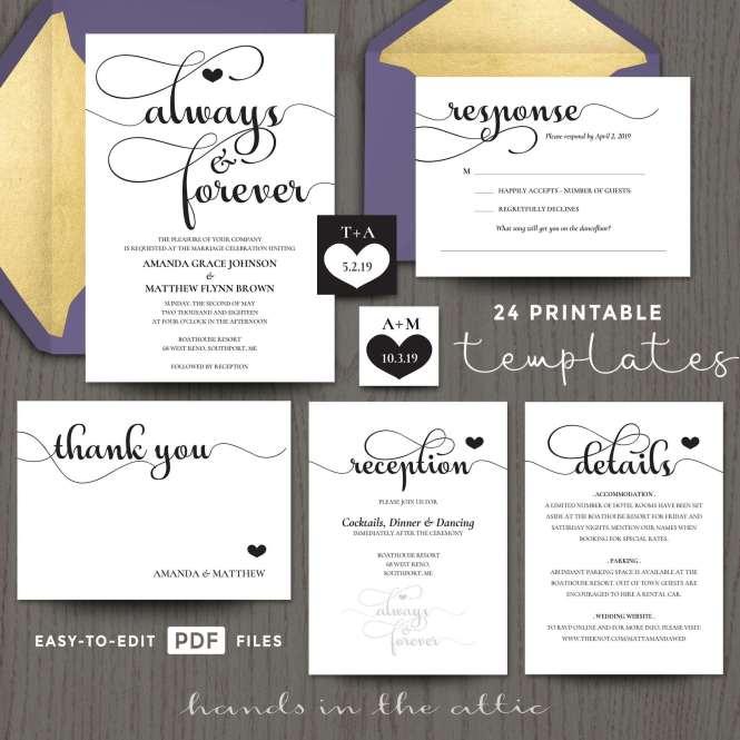 Forever Wedding Invitation Templates