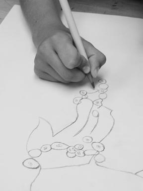 Hand drawing on Paper with pencil