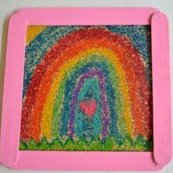 sandpaper crayon art