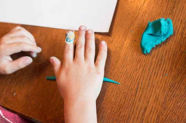 Play dough is a great tool to improve fine motor skills in children