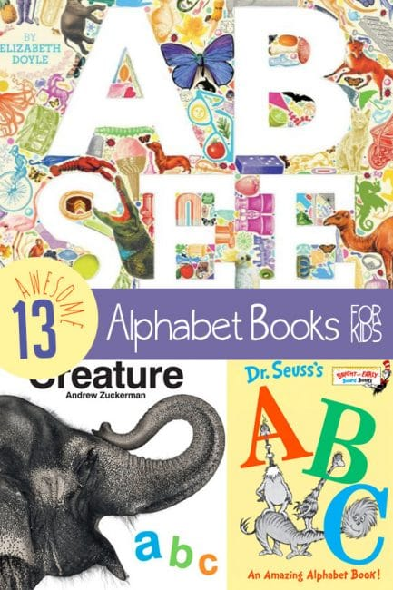 Check out these 13 awesome alphabet books, picked just for you by The Library Mom, Rosemary D'Urso!