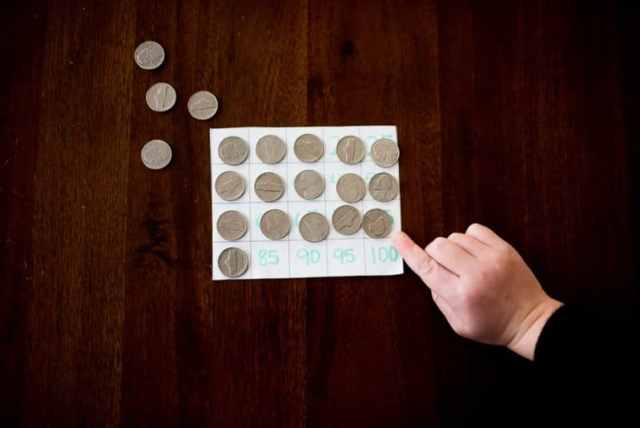 Learn to skip count by 5 with nickels!