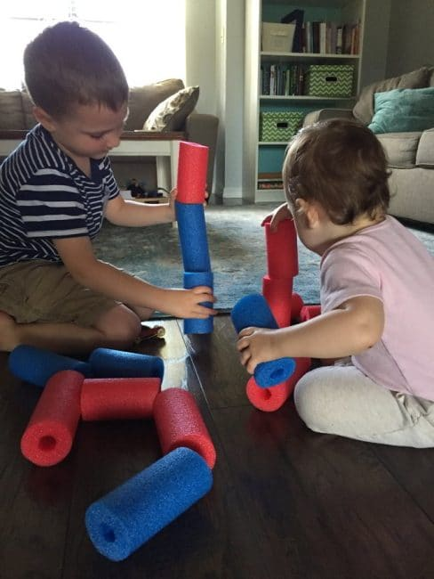 Get active indoors with these three fun ways to use pool noodles! These pool noodle activities are so simple to put together, and your kids will love them!