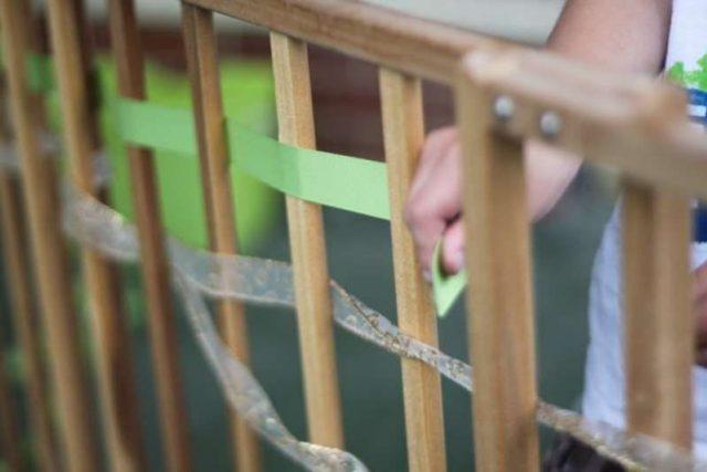 Weaving activity idea to improve child's fine motor skills