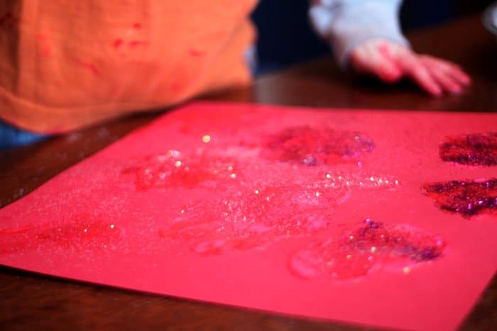Fun Sponge Art Painting For Valentines Day For Kids