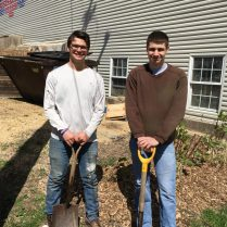 2 students landscapers