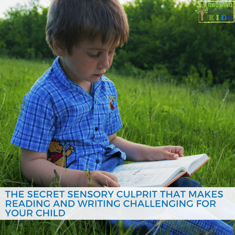reading writing sensory culprit