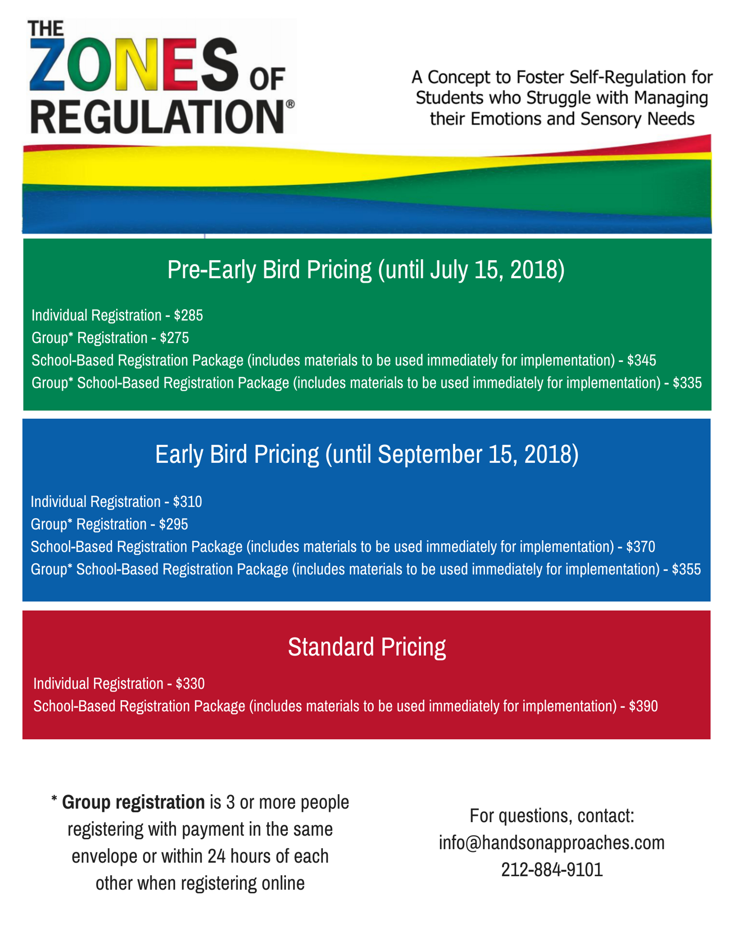 zones of regulation course pricing