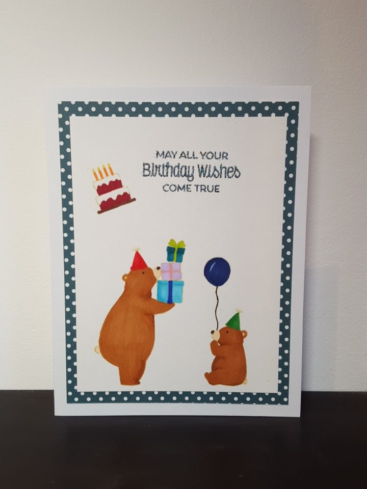 (Bear)thday card