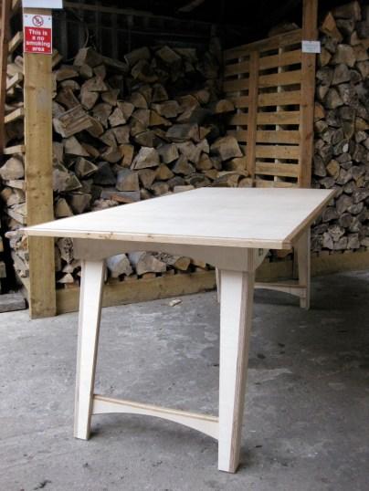 Folding Birch and Oak tables 1