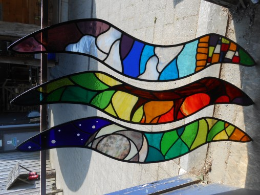 Red Kite Stained Glass Wings 2