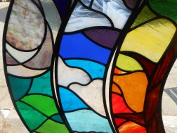 Red Kite Stained Glass wings detail