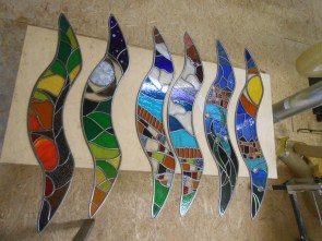 Red Kite Stained Glass Wings