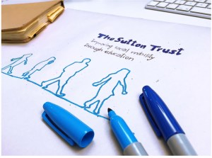 The Sutton Trust Case for Support cover sketching