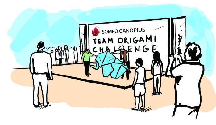 Sompo Canopius origami challenge