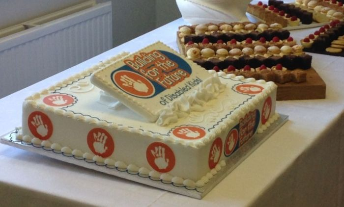 cake for Building for the Future launch