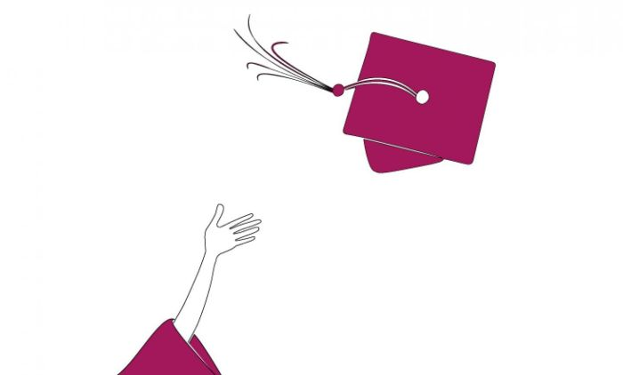 graduate mortarboard illustration
