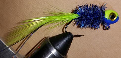 Blue Truse Handtied Crappie Jig