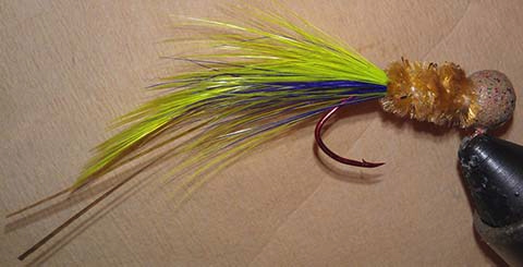 Fools Gold Grape Handtied Crappie Jig