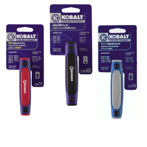 Kobalt Folding Hex Key Sets (3 Pack - SAE, Metric, Torx)