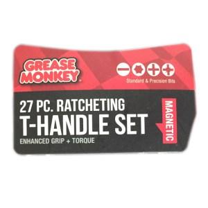 Grease Monkey Ratcheting T-Handle Set