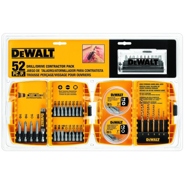 DeWalt Drill Bit Set Drill Drive Contractor Pack