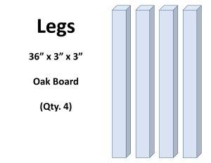 Adirondack Table Legs Wood