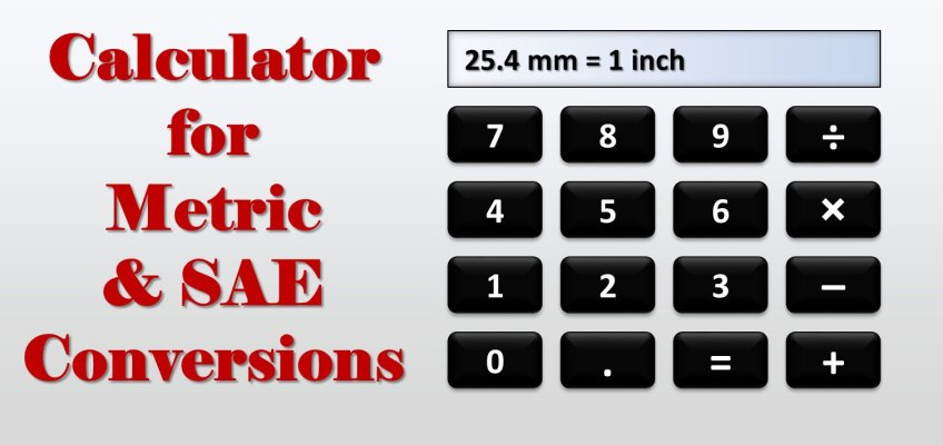 Calculator Metric SAE Conversions Inch MM Wrench Sizes